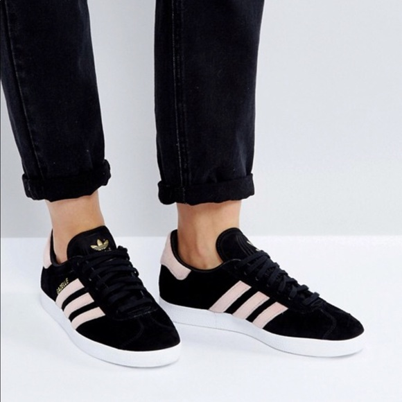 adidas Originals Womens adidas Originals Gazelle BlackRaw Pink from Foot Locker ShapeShop  ShapeShop